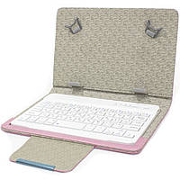 Bluetooth чехол клавиатура Lesko kayboard WL для планшета 7 дюймов Pink 3184-9522, КОД: 1174697