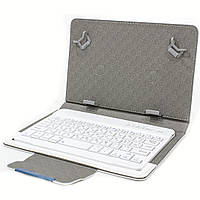 Чехол для планшета Lesko 7 с беспроводной клавиатурой White 3184-9448, КОД: 1529832