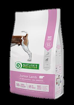 Сухой корм Nature's Protection Junior Lamb для щенков всех пород с ягненком, 2 кг