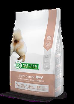 Сухой корм Nature's Protection Mini Junior для щенков малых пород, 2 кг