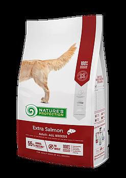 Сухой корм Nature's ProtectionNP Extra Salmon Adult All breeds для собак всех пород, 2 кг