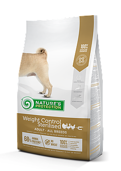 Сухой корм Nature's ProtectionNP Weight Control Sterilised для собак после стерилизации, 4 кг