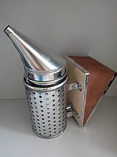 Дымарь со стаканом ,оцинкованный.Съемный кожаный мех LYSON Польша., фото 2
