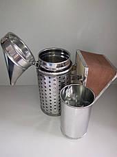 Дымарь со стаканом ,оцинкованный.Съемный кожаный мех LYSON Польша., фото 3