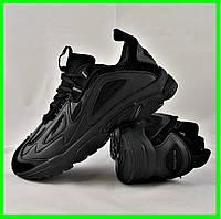 Мужские Кроссовки Reebok DMX Series 1200 Чёрные Рибок (размеры: 41,43,44,45,46) Видео Обзор, фото 1