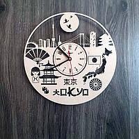 Часы настенные из дерева 7Arts Токио CL-0195, КОД: 1474369