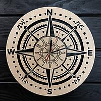 Концептуальные настенные часы 7Arts для любителей путешествовать CL-0372, КОД: 1474578