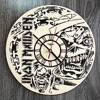 Настенные часы 7Arts Iron Maiden Светло-коричневый CL-0329, КОД: 1474603