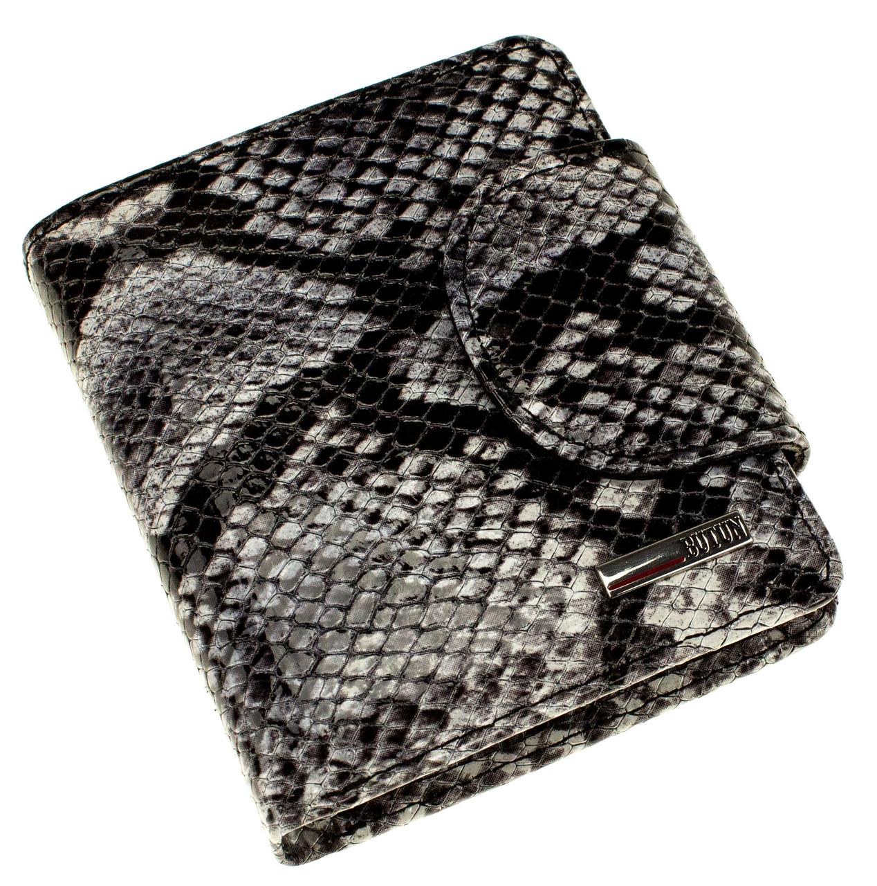 "Женский кошелек Butun 550-038-021 кожаный серый ""под рептилию"""