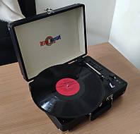 """Проигрыватель ретро для виниловых пластинок BST 990001 """"AudioCase"""" черный"""