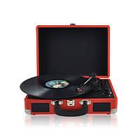 """Проигрыватель для виниловых пластинок ретро BST 990003 """"AudioCase"""" красный"""