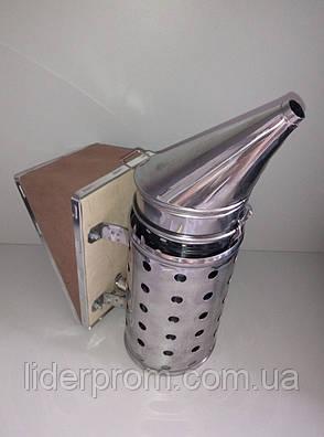 Дымарь в ограждении.Нержавеющая сталь, кожаный съемный мех.LYSON Польша., фото 2
