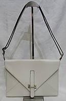 Сумка - клатч  из натуральной кожи.Маленькая кожаная сумочка . Клатч конверт. Клатч белый. летний клатч., фото 1