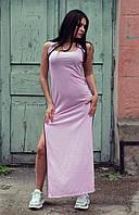 Женское спортивное платье в пол с разрезами по бокам, фото 1