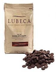 Шоколад темний кувертюр Lubeca GHANA 85 % в виде калет 1 кг