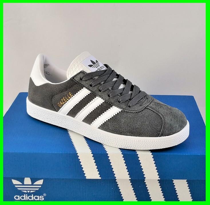 Кроссовки Adidas Gazelle Серые Мужские Адидас (размеры: 41,42,43,44,45) Видео Обзор