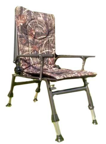 Кресло карповое Elektrostatyk F5R с подлокотниками и регулируемой спинкой (до 110 кг) тростник