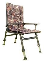 Кресло карповое Elektrostatyk F5R с подлокотниками и регулируемой спинкой (до 110 кг) тростник, фото 1