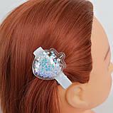 Заколка для волос Корона Ягодка с прозрачным патчем с пайетками и бусинками пересыпающиеся, фото 7