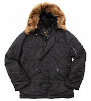 Парка Alpha Industries N-3B Parka 3XL Black Alpha-00005-3XL, КОД: 717958