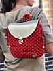 Дизайнерский вязаный рюкзак ручной работы из трикотажной пряжи Бобилон, фото 4