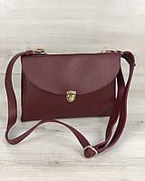 Молодежная женская сумка Виола бордового цвета, фото 1