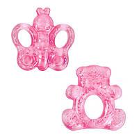 Прорезыватель для зубов, с водой (розовый) Lindo