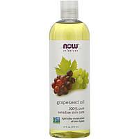 """Масло виноградной косточки NOW Foods, Solutions """"Grapeseed Oil"""" увлажняющее (473 мл)"""