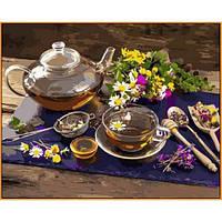 Премиум картина по номерам Чай с мёдом 40х50см Babylon NB1136 Цветы фрукты натюрморты еда