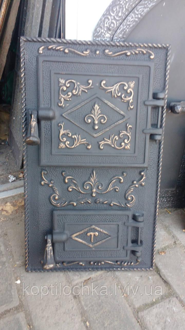 Дверка чавунна для печі,мангала «Тешка»