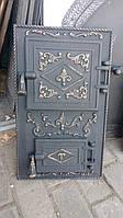 Дверка чавунна для печі,мангала «Тешка», фото 1