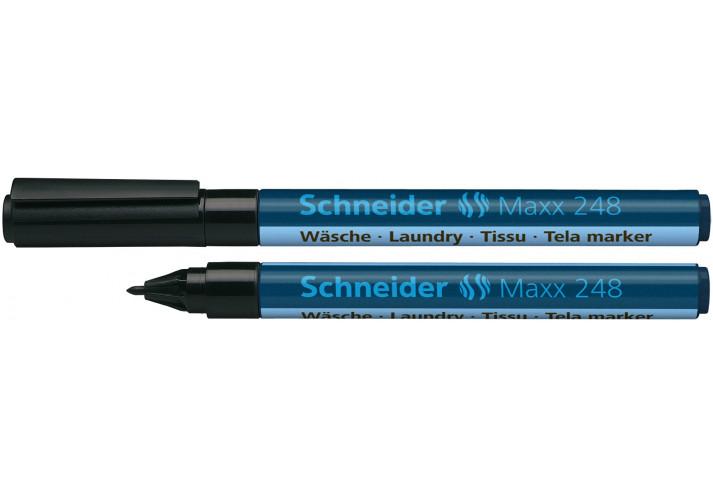 Маркер перманентний для написів по текстилю SCHNEIDER MAXX 248 1,0 мм, чорний