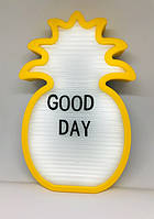 Ночник светильник Ананас Light up message board с посланием Желтый uq124108, КОД: 1536448