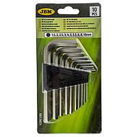 Набор ключей шестигранных (10 шт) (1.5/2/2.5/3/4/5/5.5/6/8/10mm) JBM (Испания) 50571