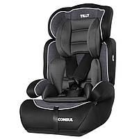 Детское автомобильное кресло TILLY Consul T-531/2 Black, группа 1-2-3