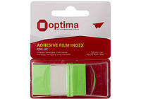 Стікери-закладки Optima, 45х25, зелені, 50 шт.