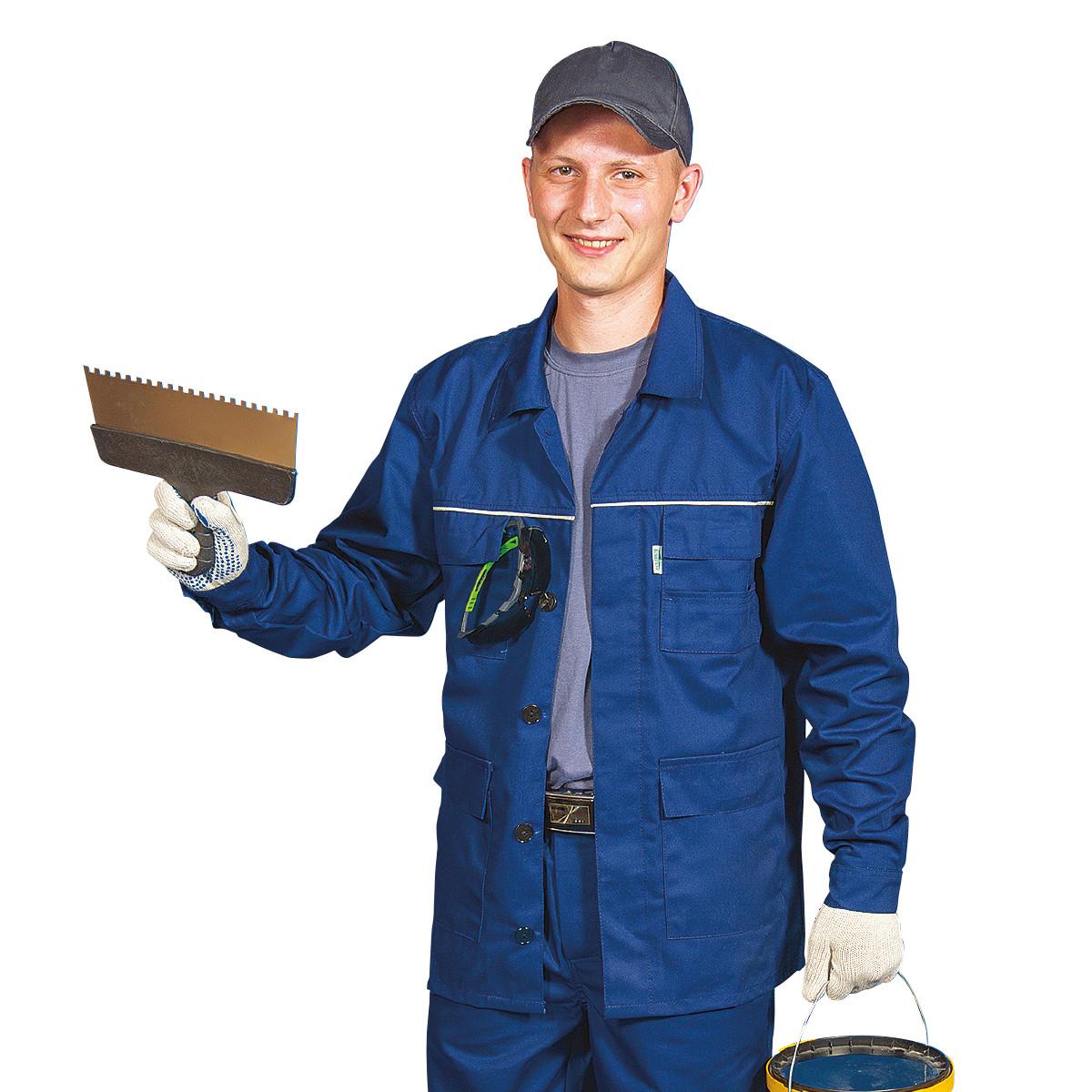 Куртка ЛІДЕР, тк.Zibo (65%п/е+35%х/б), т. синій