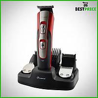Профессиональная машинка для стрижки волос, триммер Gemei GM 592 10 в 1