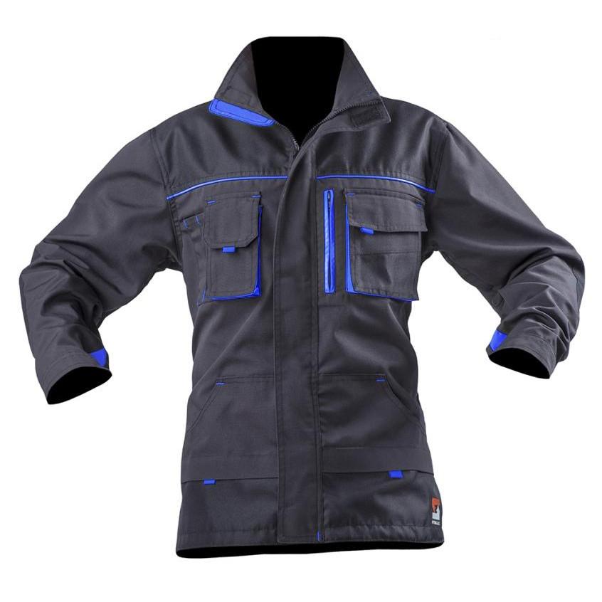 Куртка STEELUZ, т.серый/василек, тк.canvas (65%п/э+35%х/б)