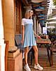 Платье мини короткое женское микродайвинг серое с розовым, фото 4