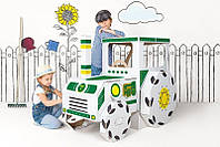 Іграшка з картону, великий картонний трактор Tektorado