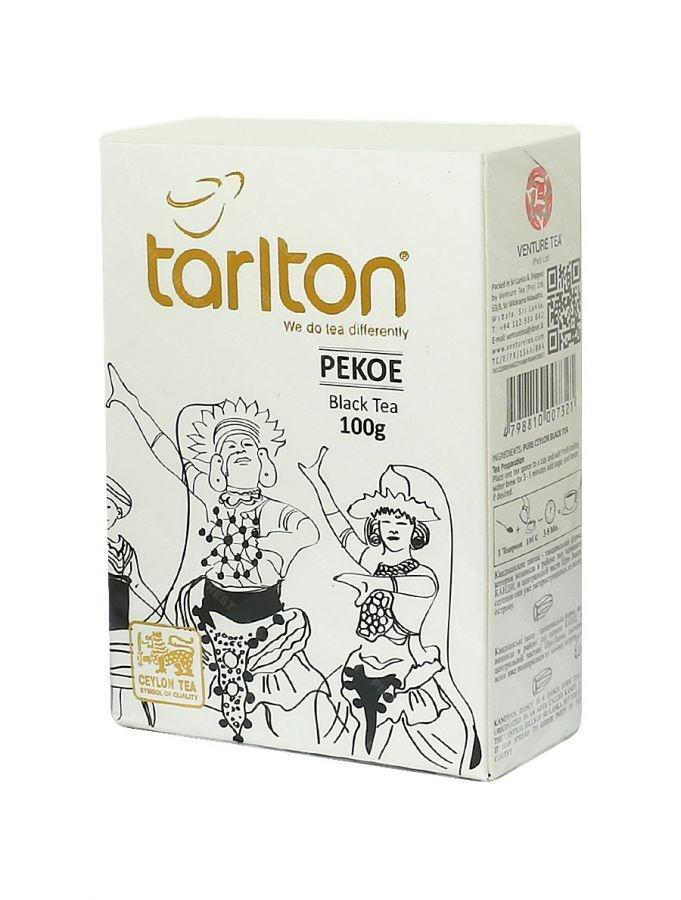 Чай Tarlton черный Pekoe цейлонский среднелистовой 100 грамм