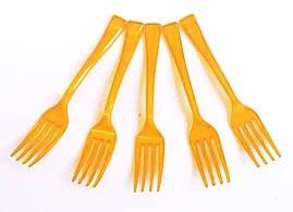 Вилки стеклопластиковые 50грамм желтые