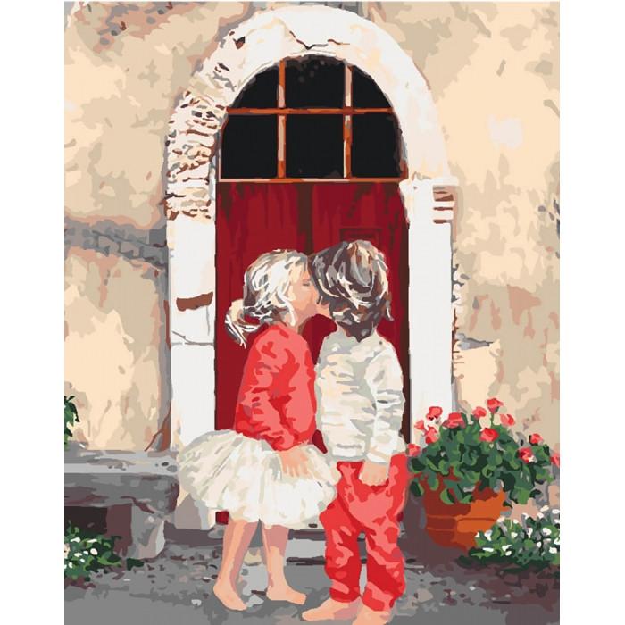 Картина по номерам Первый поцелуй 2  ТМ Идейка 40 х 50 см КНО2325