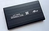 """USB 2.0 внешний металлический карман кейс флешка для 2.5"""" SATA HDD SSD, фото 3"""