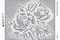 Схема для вышивания бисером ''Черно-белые розы'' А4 29x21см