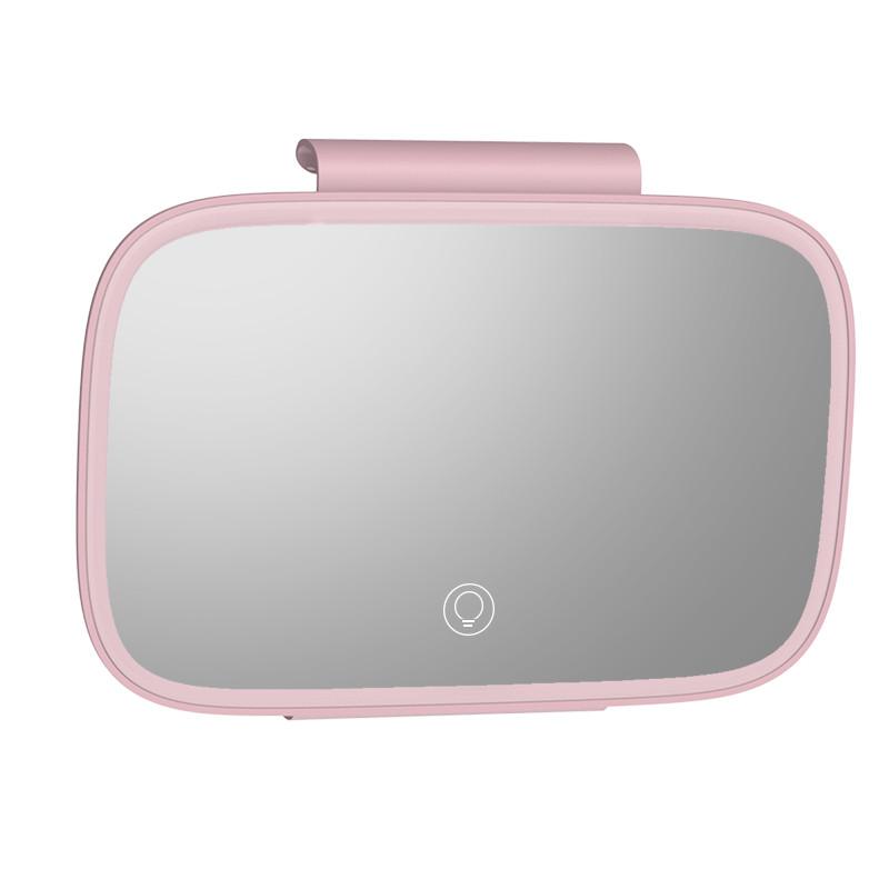 Led зеркало для макияжа в салон автомобиля Baseus Delicate Queen Car Touch-Up Mirror pink