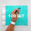 Контрольные бумажные браслеты на руку неоновые с логотипом для клуба Tyvek 3/4 - 100 шт