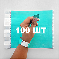 100 шт - Бумажные контрольные браслеты Tyvek — 3/4''