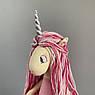 Единорог Мягкая интерьерная игрушка пурпурный 45 см, фото 3